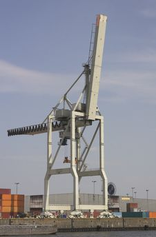 Free Container Crane 3 Stock Photography - 1285792