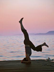 Free Exercising At Sunset Royalty Free Stock Photo - 1286095