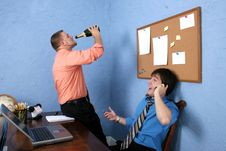Free Drinking On The Job Stock Photography - 1287662