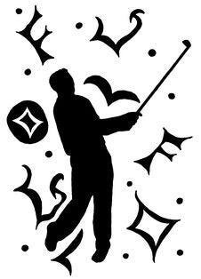 Male Golfer Background Stock Photography
