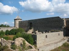 The Fortress Ivangorod Royalty Free Stock Photography