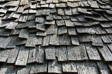 Wooden Roof Tiles Royalty Free Stock Images
