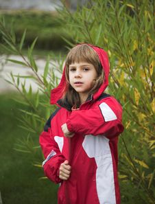 Free Girl In Red Jacket Royalty Free Stock Image - 1288276