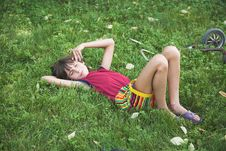 Free Boy Rests By Summer Royalty Free Stock Photos - 1288918
