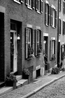 Free Beacon Hill, Boston Stock Image - 1289771