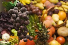 Grapes And Other Fruit Royalty Free Stock Images