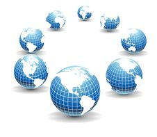 Vector Globes Stock Images