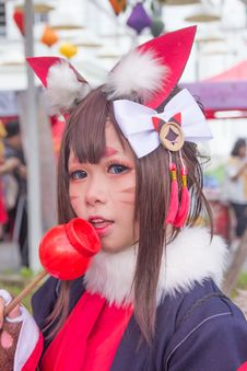 Free Woman Cosplaying Cat Anime Royalty Free Stock Photos - 128037038