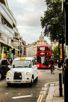 Free White Vehicle Travelling On Road Stock Image - 128037061