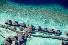 Free Bird S-eye View Photo Of Cabanas Stock Photography - 128037162