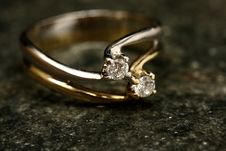 Free Close-Up Photo Of Ring With Diamonds Stock Photography - 128037412