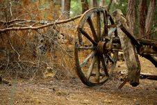 Free Brown Carriage Wheel Royalty Free Stock Image - 128037416