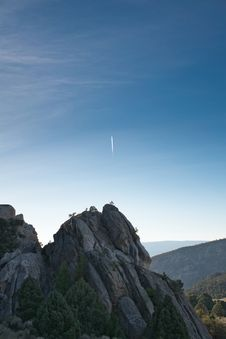 Free Meteor On Blue Sky Stock Photo - 128037550