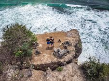 Free Photography Of People Standing Near Cliff Stock Images - 128037724