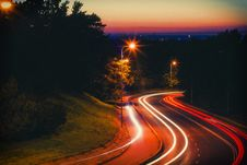 Free Time-lapse Of Road At Night Royalty Free Stock Photography - 128037817