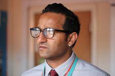 Free Close-Up Photo Of Man Wearing Eyeglasses Royalty Free Stock Photos - 128067128