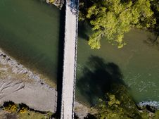 Free Aerial Shot Of Bridge Royalty Free Stock Photo - 128067185