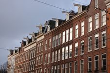 Dutch Houses In Amsterdam Royalty Free Stock Images