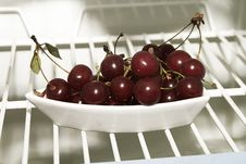 Free Cherries In Fridge Royalty Free Stock Images - 12846589