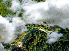 Free Bird S Eye View Of Winding Road Royalty Free Stock Photography - 128405327