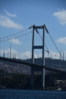Free Istanbul Bosphorus Bridge. City Royalty Free Stock Image - 128484546