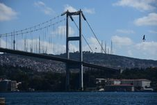 Free Istanbul Bosphorus Bridge. City Royalty Free Stock Images - 128484809