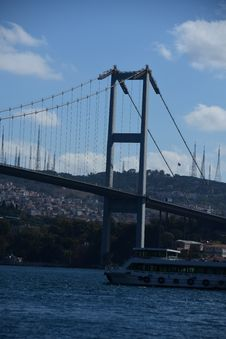 Free Istanbul Bosphorus Bridge. City Royalty Free Stock Photo - 128487345