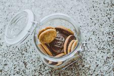Free Photo Of Chocolate Cookies In Jar Stock Image - 128558331