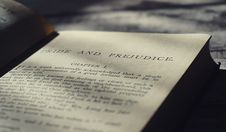 Free Closeup Photo Of Pride And Prejudice Book Page Royalty Free Stock Photo - 128687485