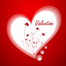 Free Valentine`s Greeting Card Royalty Free Stock Photos - 12880718