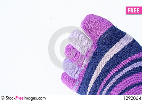 Toe Socks Stock Photo