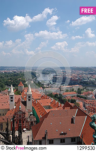 Prague Skyline Stock Photo