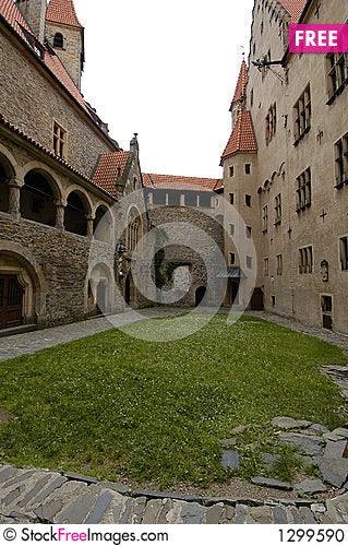 Castle Courtyard Stock Photo