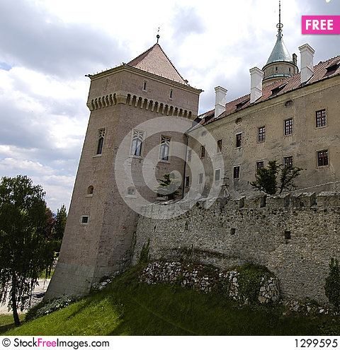 Castle Bojnice Stock Photo