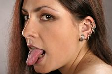 Free Woman With Ear-rings And Studs Stock Photo - 1291020