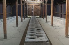 Free Auschwitz - Latrines Stock Images - 1291174