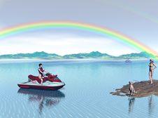Free Jet Ski Fun Royalty Free Stock Photography - 1291267