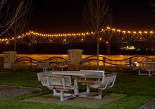 Free Picnic By Bridge At Night Stock Photo - 1292590