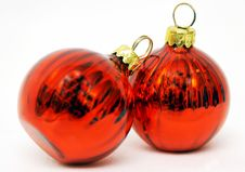 Free Red Christmas Balls Stock Photo - 1294070