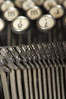 Worldly-wise Typewriter Royalty Free Stock Image