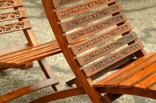 Detail Of Two Chairs Stock Images