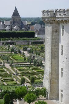 A Formal Garden In France Stock Image