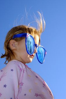 Free Glasses Little Blonde Girl Stock Photos - 1298353