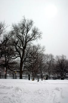 Boston In Snow Stock Images
