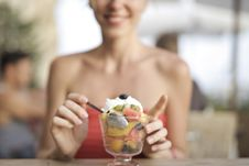Free Woman About To Eat Ice Cream Royalty Free Stock Images - 129026609