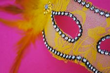 Free Pink And Yellow Mask Royalty Free Stock Images - 129029249