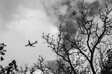 Free Black-and-White Photography Of Airplane Stock Photography - 129030502