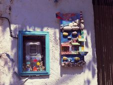 Free Blue, Window, House, Art Stock Image - 129192121