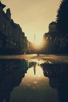 Free Silhouette Of Two Women Walking On Street Near Concrete Buildings Royalty Free Stock Photos - 129227658