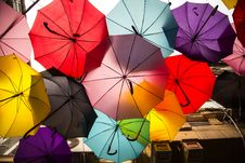 Free Assorted-color Umbrellas Royalty Free Stock Images - 129228719